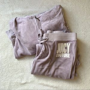JUICY COUTURE VELOUR TRACKSUIT (LAVENDER)